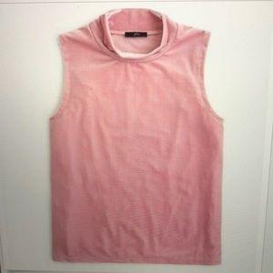 Jcrew soft pink velvet tank NWT